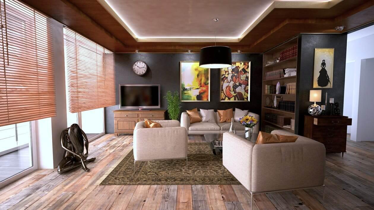 carpets on hardwood flooring