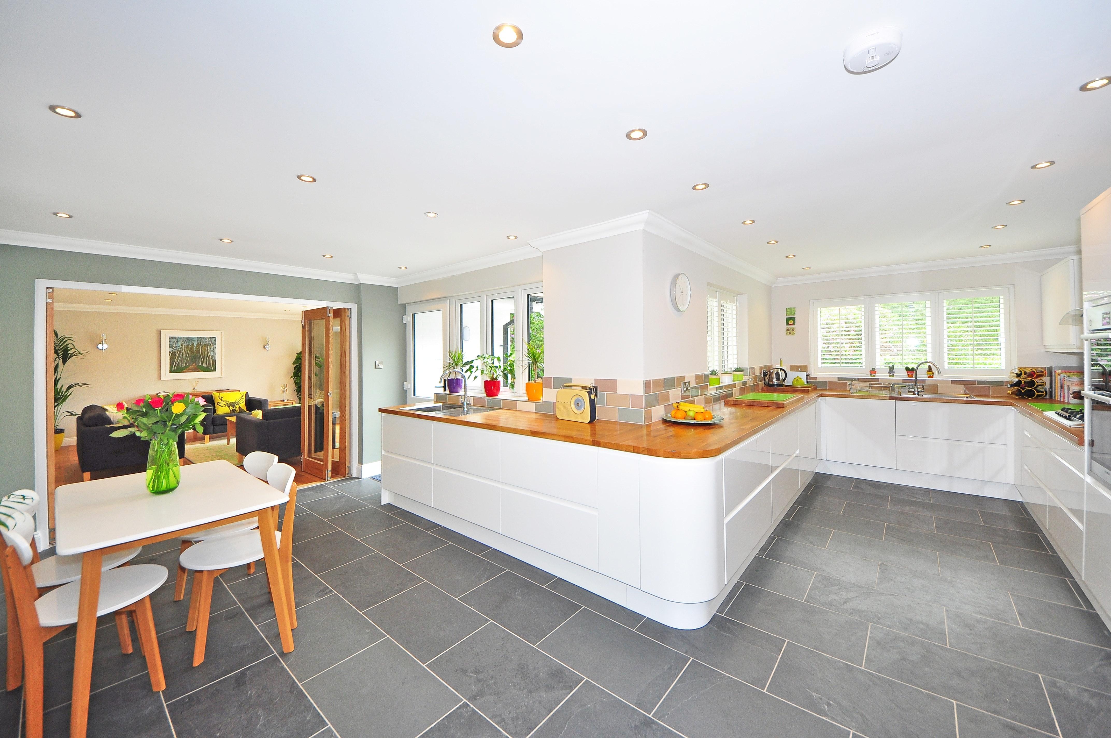 luxury vinyl kitchen floor